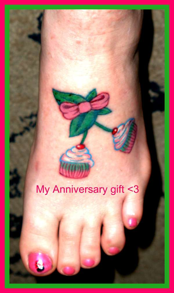 Mrs.muffins Cherry Cupcakes tattoo