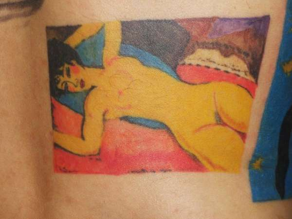 famous painting tattoo