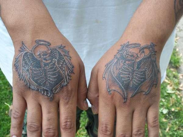 Good Evil Skulls Tattoo