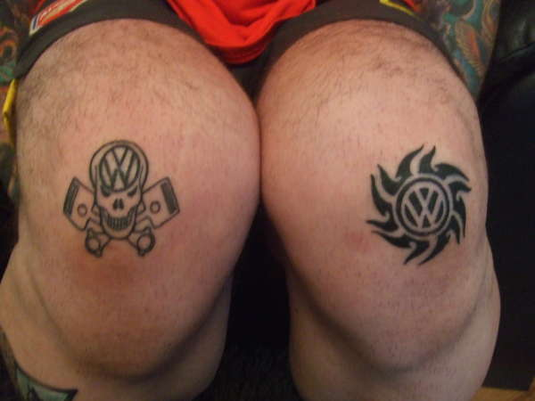 vw knees tattoo. Black Bedroom Furniture Sets. Home Design Ideas