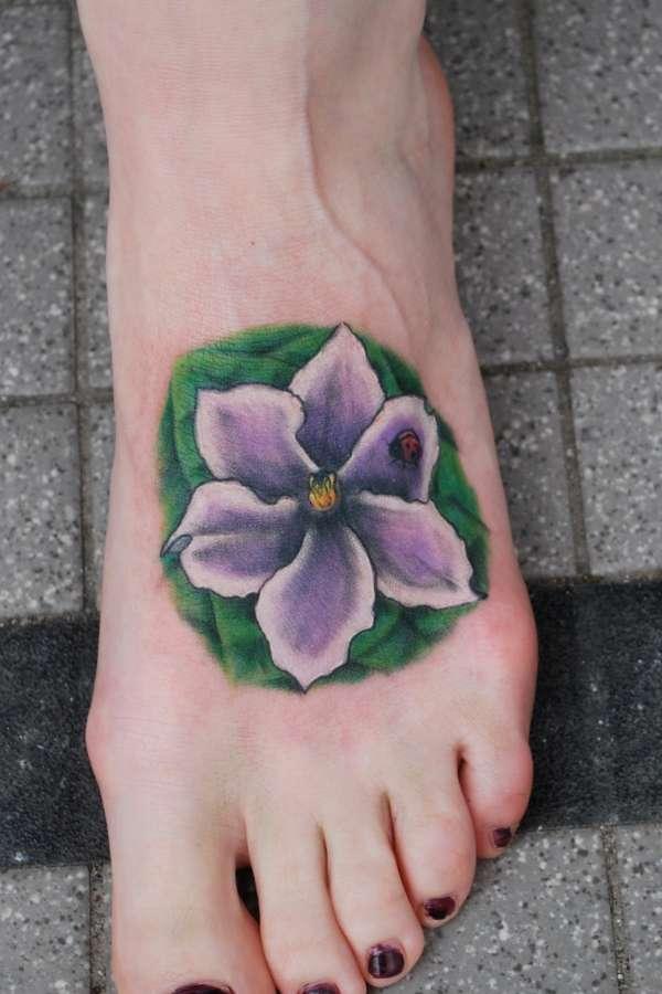African violet Tattoo tattoo