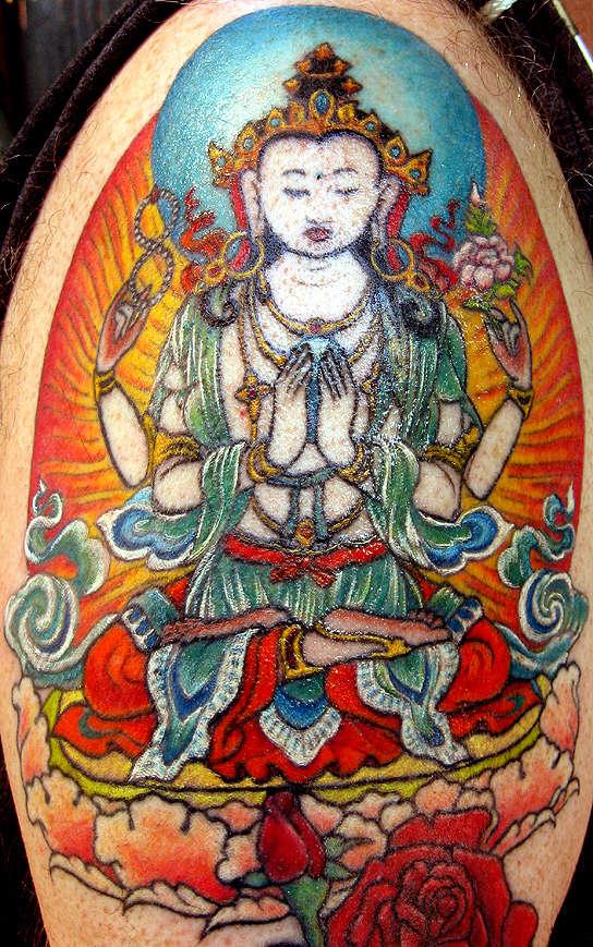 My husband's Avalokitesvara - FINISHED! tattoo