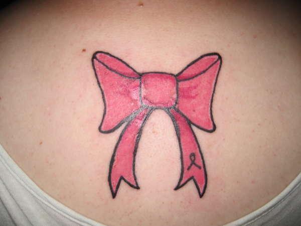Pink Bow Tie tattoo