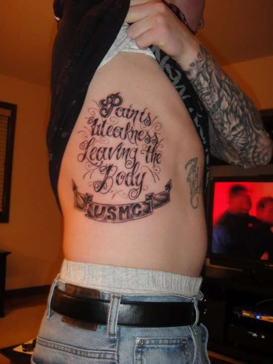 USMC tattoo