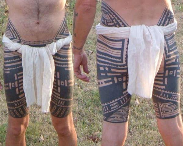 Samoan pant suit tattoo
