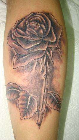 Black and grey rose tattoo for Best soap to clean tattoo