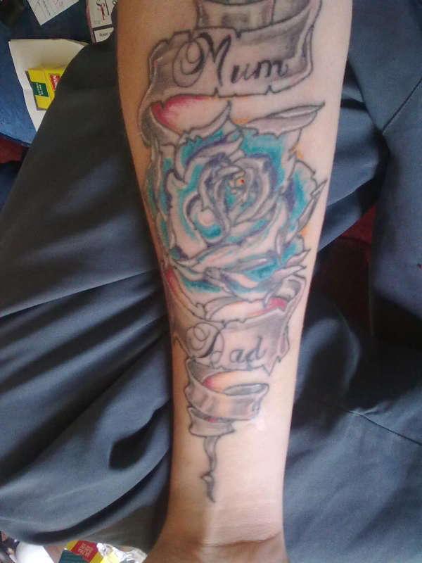 rosescrolls tattoo