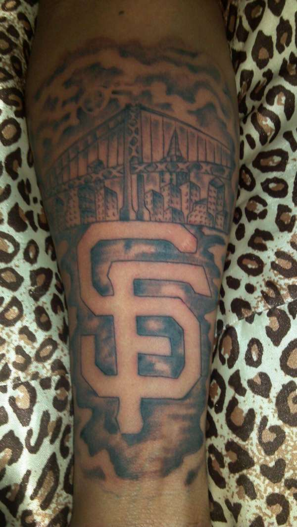 sf giants tattoo. Black Bedroom Furniture Sets. Home Design Ideas