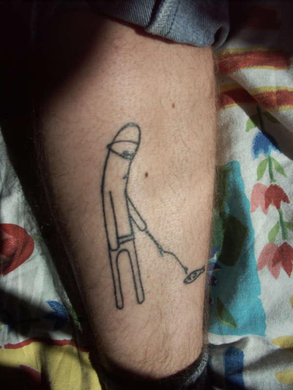 white ninja tattoo
