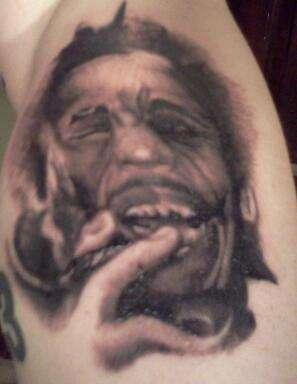 zombie bob marley tattoo