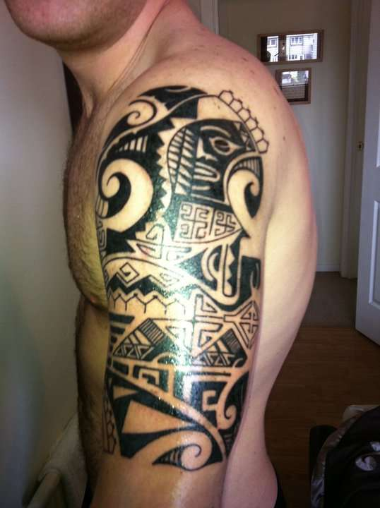 Half sleeve tat tattoo