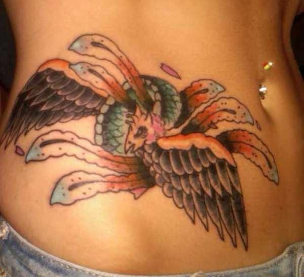 Colorful Phoenix tattoo