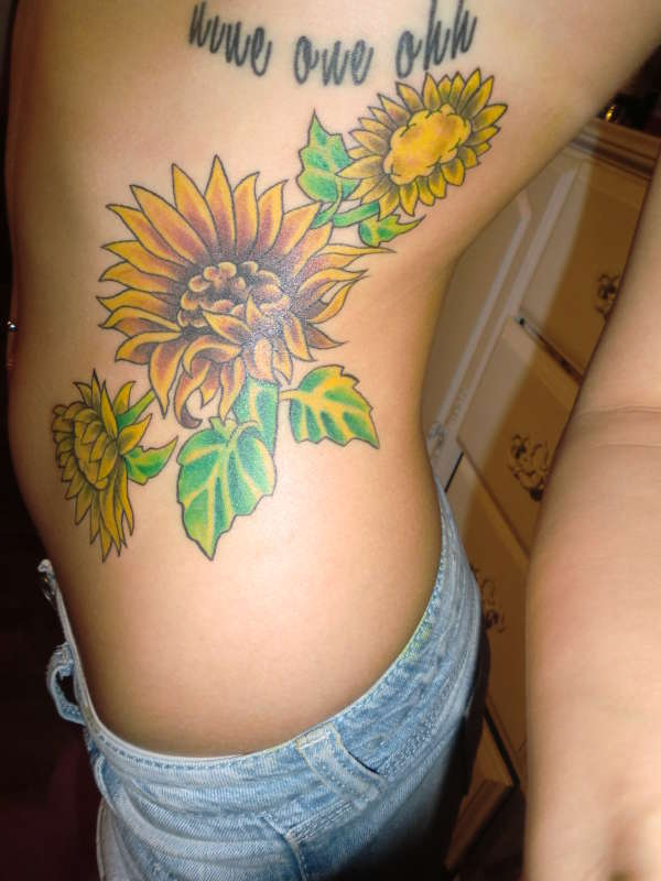 Sunflowers& 910 tattoo