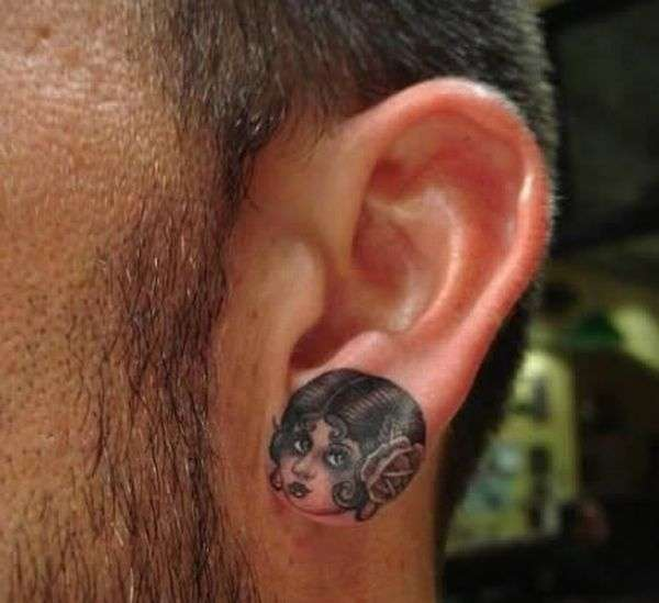 crazy good ear tattoo tattoo
