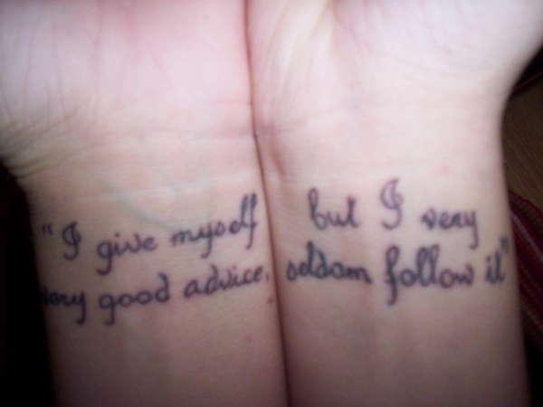 Alice Quote tattoo