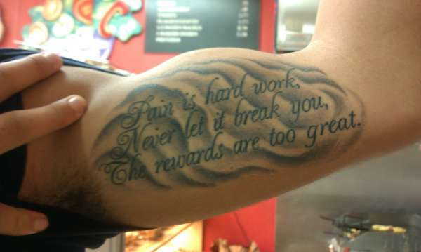 Pictures Of Quote Tattoos On Upper Arm Rock Cafe