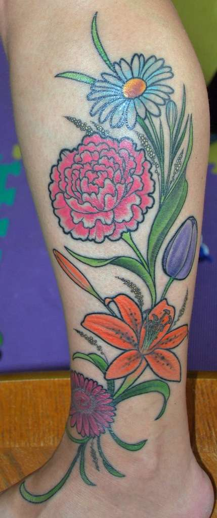 Bouquet tattoo