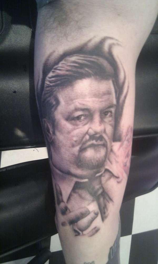David Brent ( Ricky Gervais) tattoo