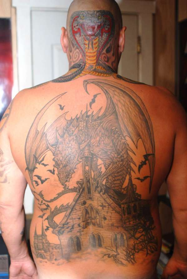 HEAD AND BACK tattoo