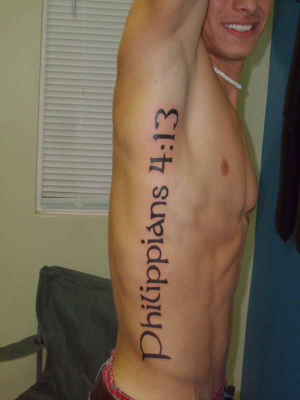 I Can Do All Things Through Christ Who Gives Me Strength Tattoo