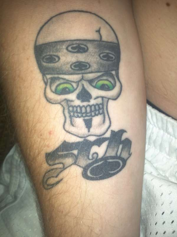 SRH skull tattoo