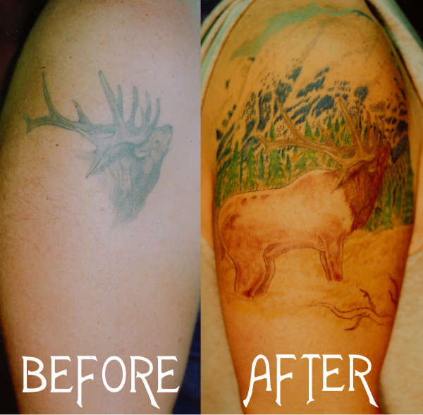 ELK REDONE tattoo