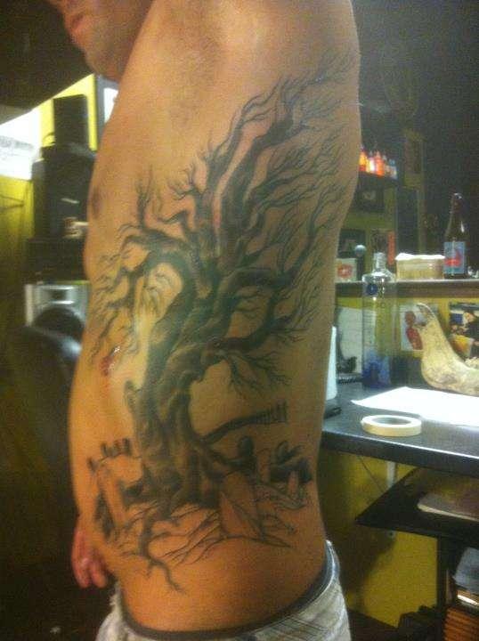 side tat tattoo