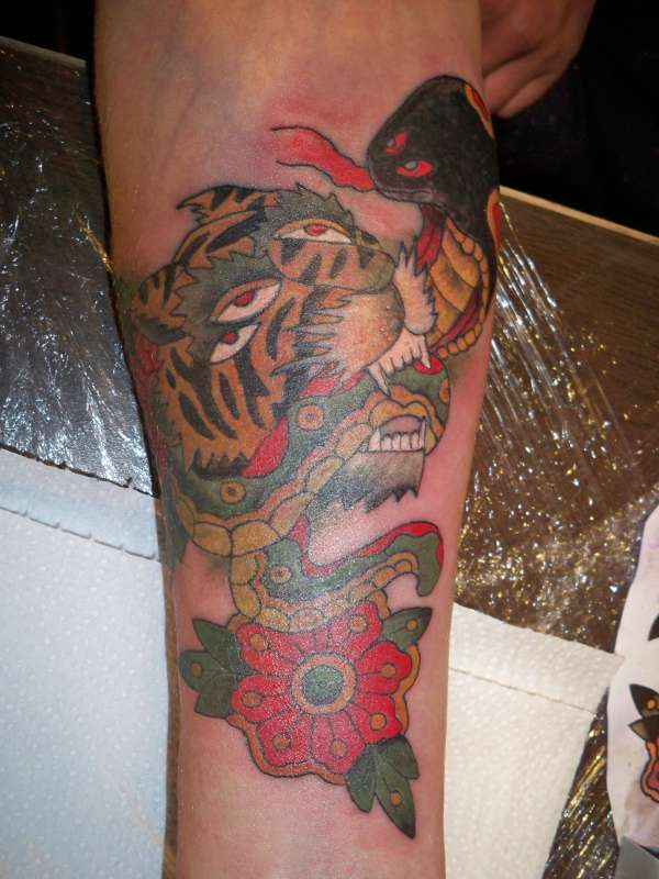 Old School Tiger Tattoo Tattoo Collections