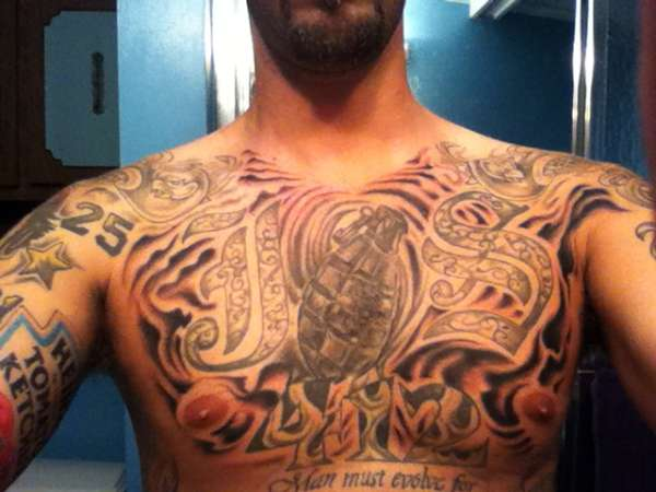 Chest shading tattoo for How to shade tattoos