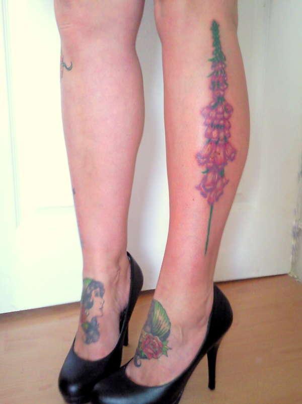 Foxglove tattoo tattoo