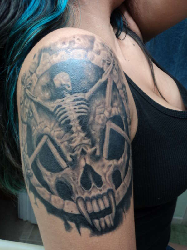 """SLAYER-Divine Intervention"" tattoo"