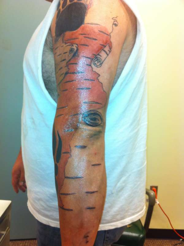 birch bark tattoo