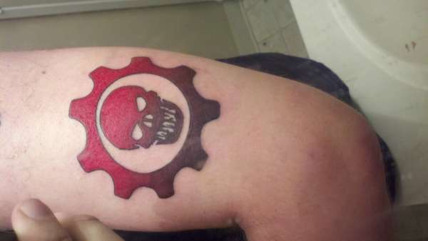Gears of war tattoo for Gears of war logo tattoo