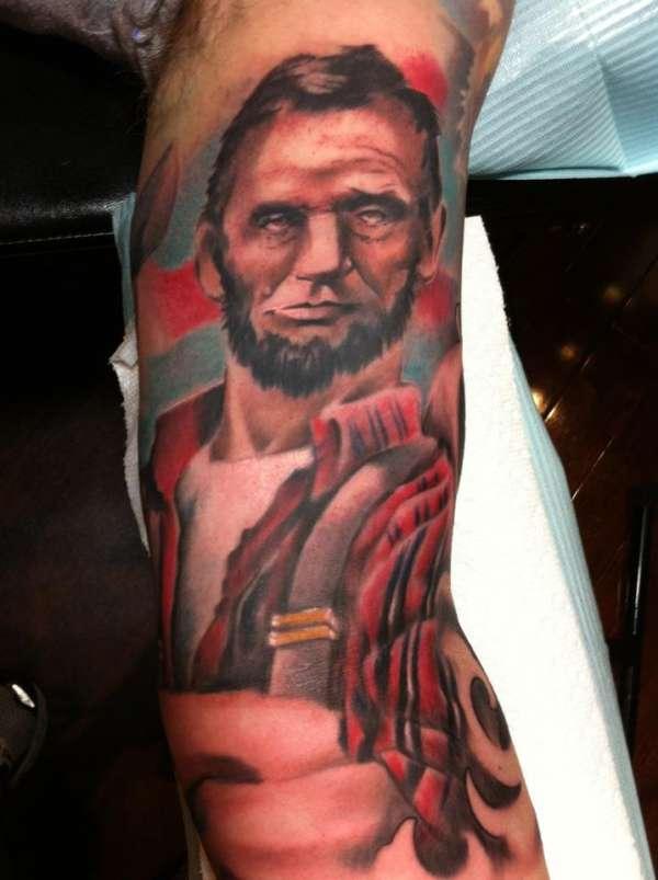 Honest Abe tattoo