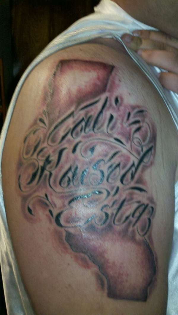 Cali raised tattoo for Raised tattoo after healing