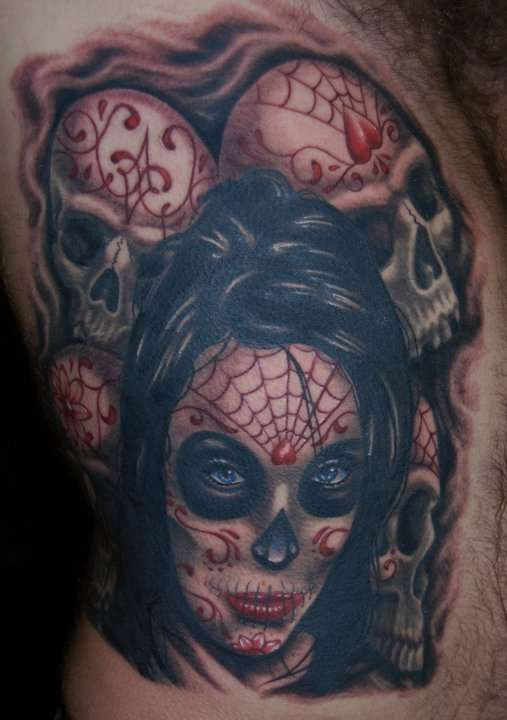 Day of Dead girl tattoo