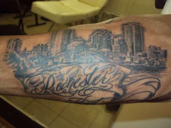 Rochester ny skyline tattoo for Tattoo rochester ny