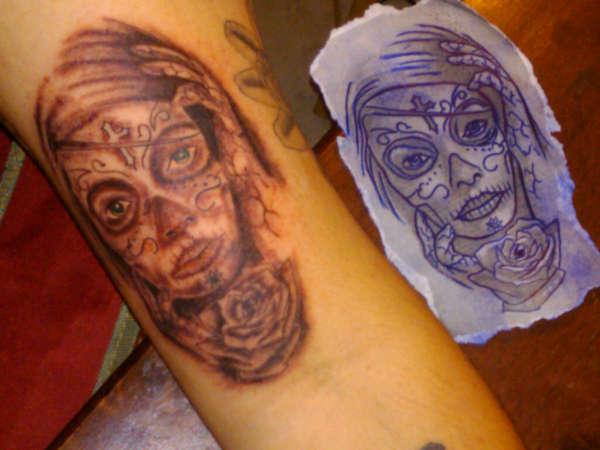 Dia de los muertos tattoo for Dia de muertos tattoos