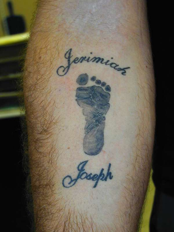 Baby's Foot Print tattoo