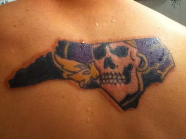 my ecu pirates tat tattoo