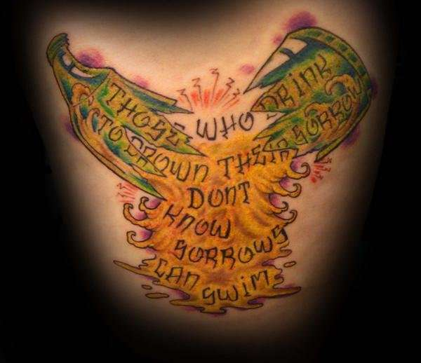Tattoo Ideas Quotes On Addiction Sobriety Recovery: Addiction Quote Tattoo