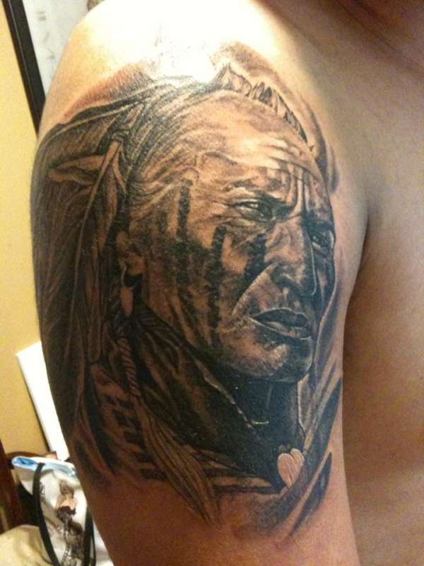 native american warrior tattoo