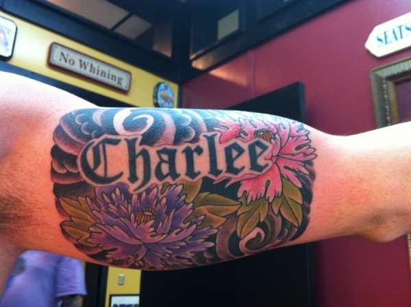 Hawaiian Arm piece tattoo