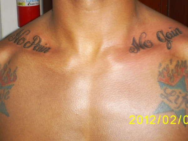 No pain no gain tattoo for Pain symbol tattoo