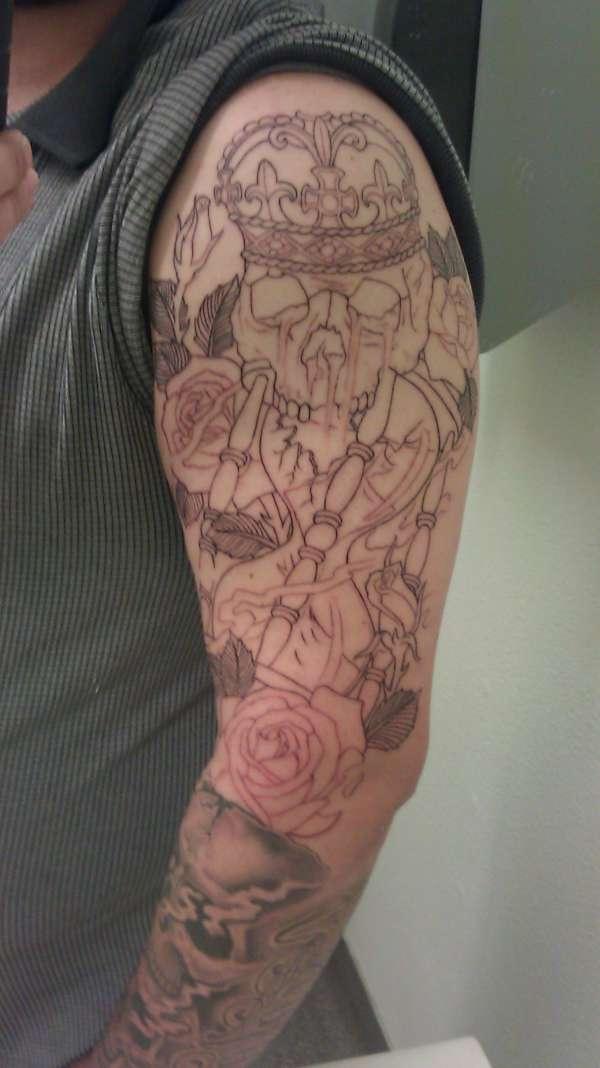 Shoulder Outline tattoo