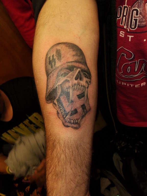 german skull tat tattoo. Black Bedroom Furniture Sets. Home Design Ideas