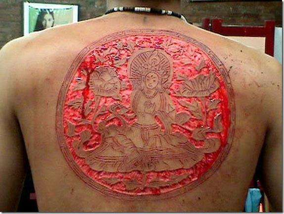 12 step buddhist scarafacation ink tattoo. Black Bedroom Furniture Sets. Home Design Ideas