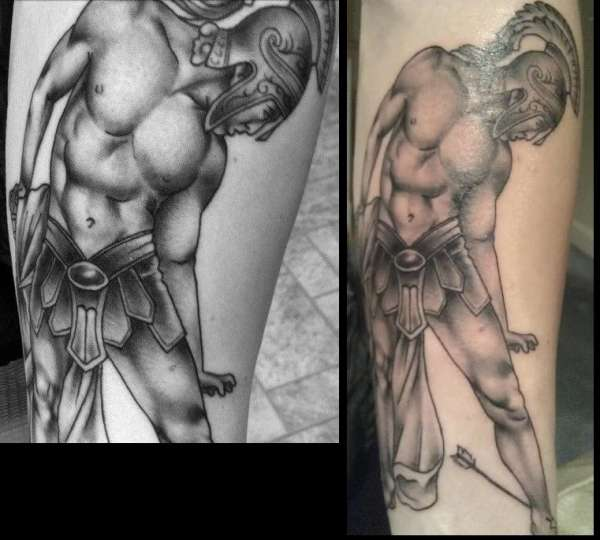 Achilles / Greek Warrior Tattoo tattoo