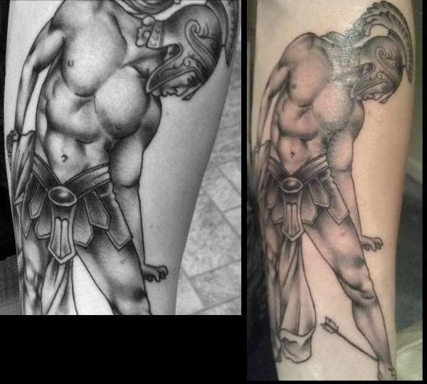 Achilles / Greek Warrior Tattoo tattoo