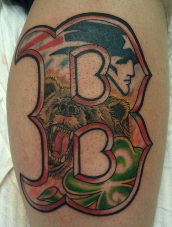 boston sports bruins red sox celtics patriots tattoo. Black Bedroom Furniture Sets. Home Design Ideas